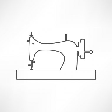 Icon of Sewing Machine, tailor