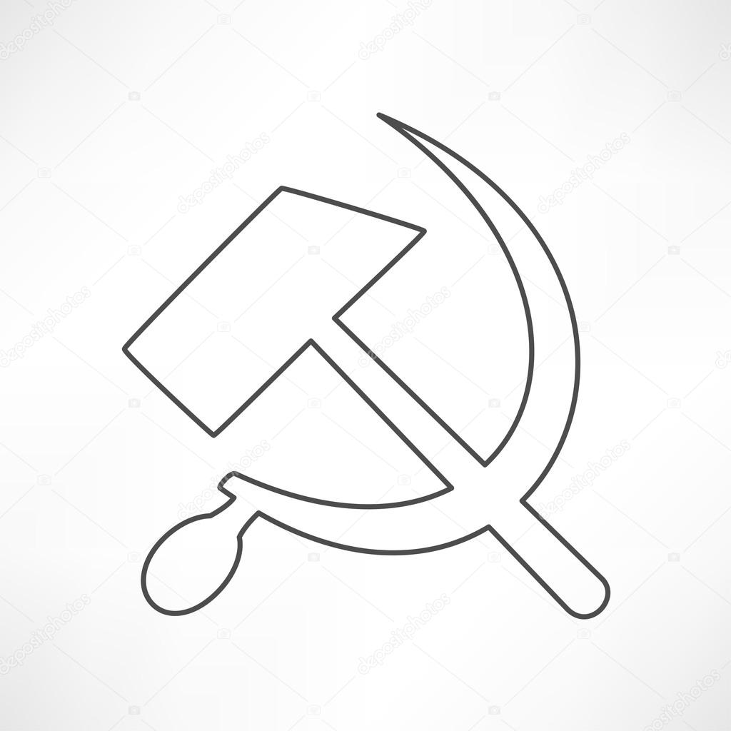 Icon of socialist symbol sickle hammer stock vector icon of socialist symbol sickle hammer outline vector illustration on white background vector by slasny1988 biocorpaavc Gallery