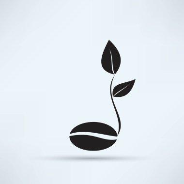 coffee seedling, flora icon