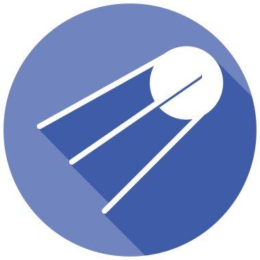 Satellite station, astronaut icon
