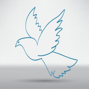 dove of peace, bird icon