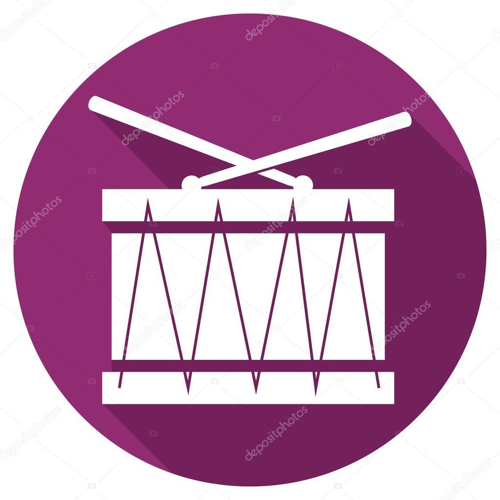 Drum, music icon — Stock Vector © slasny1988 #84813450