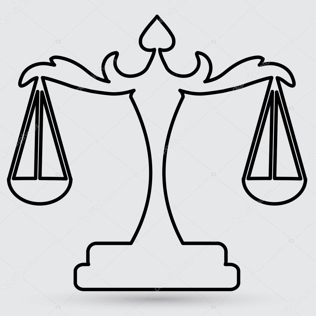 Imágenes Balanza De La Justicia Para Colorear Icono De La Balanza