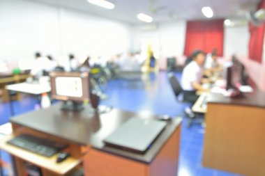 Blur or Defocus Background of Students in Computer Classroom
