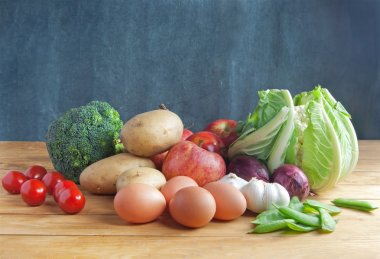 Fresh farmers market groceries