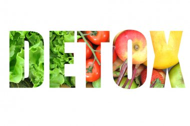 Detox text isolated on white