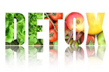 Detox text made from fruits
