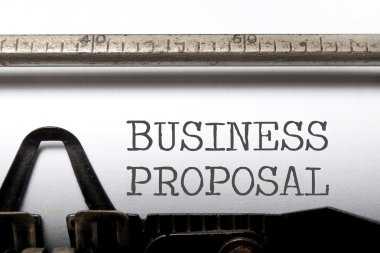 Business proposal printed