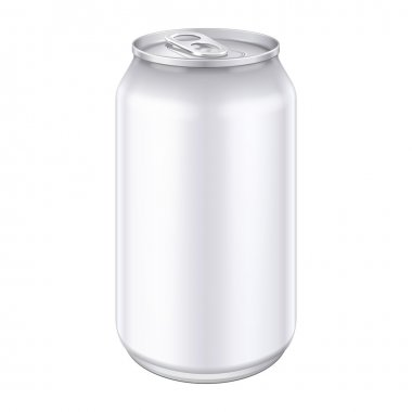 White Metal Aluminum Beverage Drink Can 500ml. Ready For Your Design. Product Packing