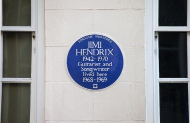 Jimi Hendrix Plaque in London