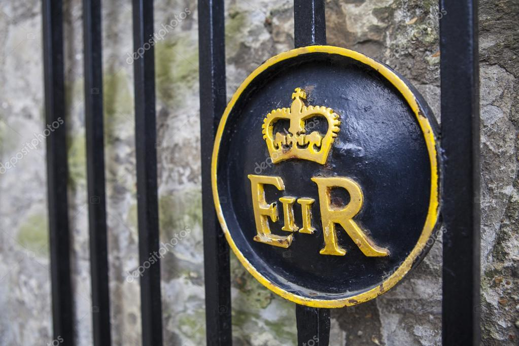 Queen Elizabeth Ii Symbol At The Tower Of London Stock Editorial