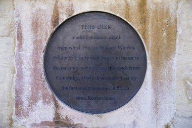 William Warren Plaque in Cambridge