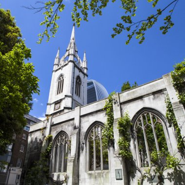 The Remains of St. Dunstan-in-the-East Church in London