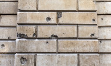 Signs of Blitz Bomb Damage in London