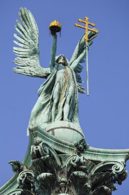 Archangel Gabriel on top of the Heroes Square Column in Budapest