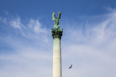 Heroes Square Column in Budapest