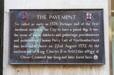 The Pavement Plaque in York