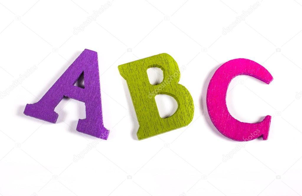 Farbige Buchstaben Abc Rechtschreibung — Stockfoto © chrisdorney ...
