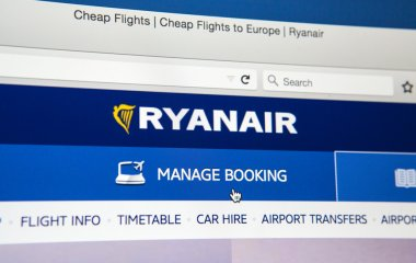 RyanAir official Website