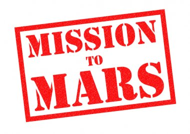 MISSION TO MARS Rubber Stamp