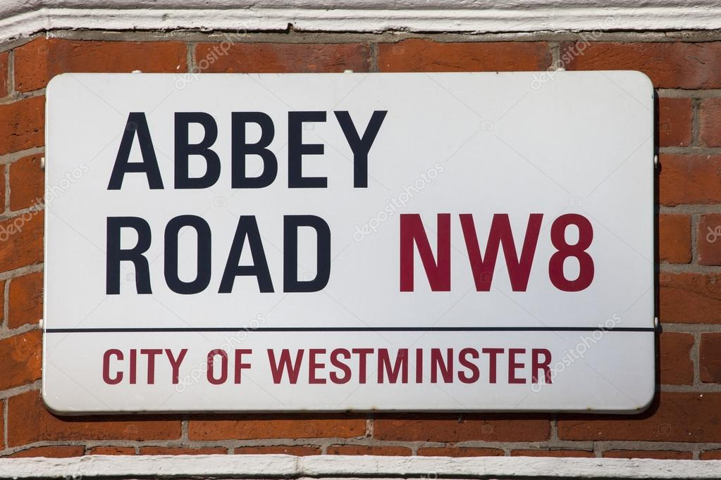 plaque de rue abbey road photo ditoriale chrisdorney 96760228. Black Bedroom Furniture Sets. Home Design Ideas