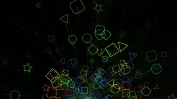 Colorfull geometrické pozadí animace