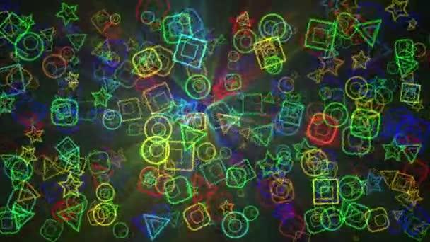 Colorfull geometric background animation
