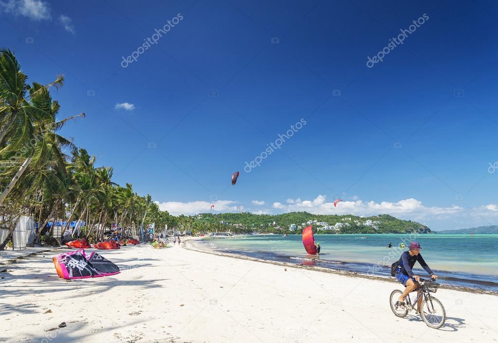 beach sports in boracay tropical island philippines