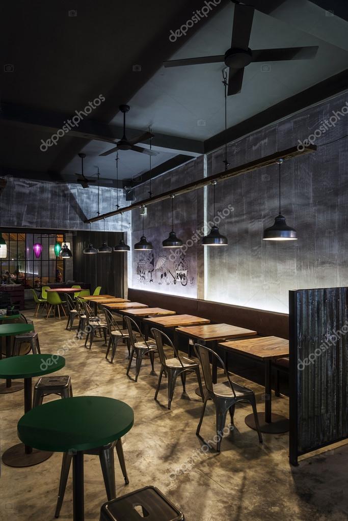 Design intérieur contemporain moderne industrielle restaurant de nuit image de jackmalipan