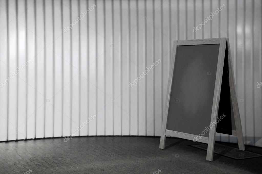 Leere Hölzerne Tafel Im Freien Menüdarstellung U2014 Stockfoto