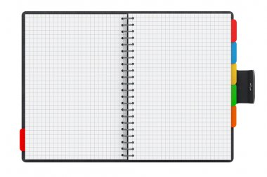 Personal Diary or Organiser Book with Blank Pages. 3d Rendering