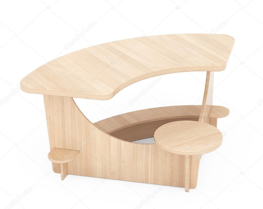 Holz Schreibtisch Kid. 3D rendering — Stockfoto © doomu #111497922