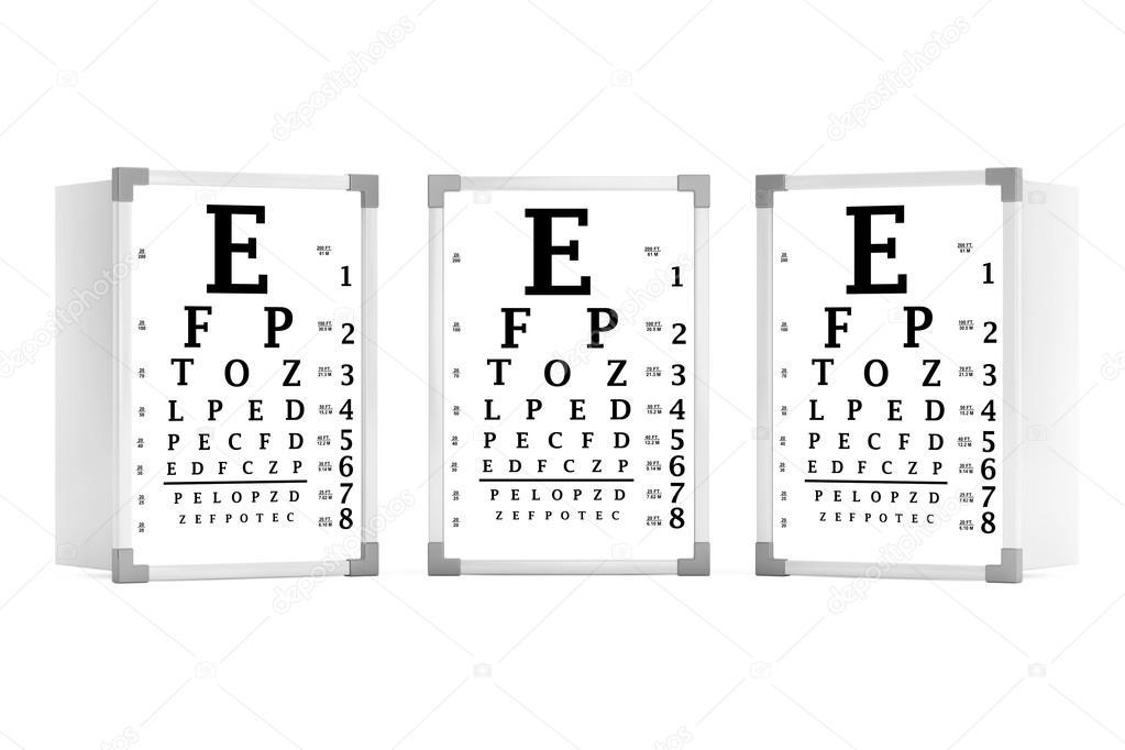 Snellen Eye Chart Test Boxes 3d Rendering Stock Photo Doomu