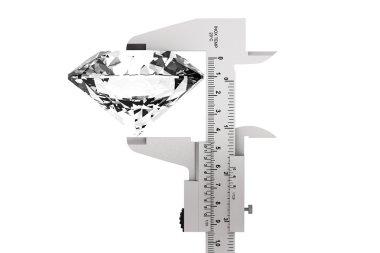 Metal Vernier Caliper with Diamond