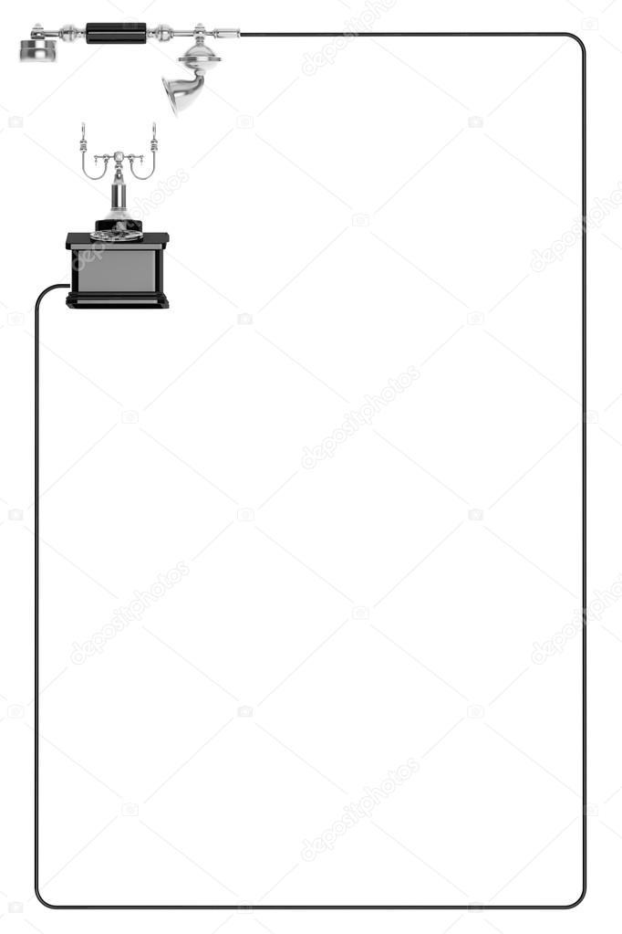 Telefono Dellannata Come Cornice Su Sfondo Bianco Con Spazio Per