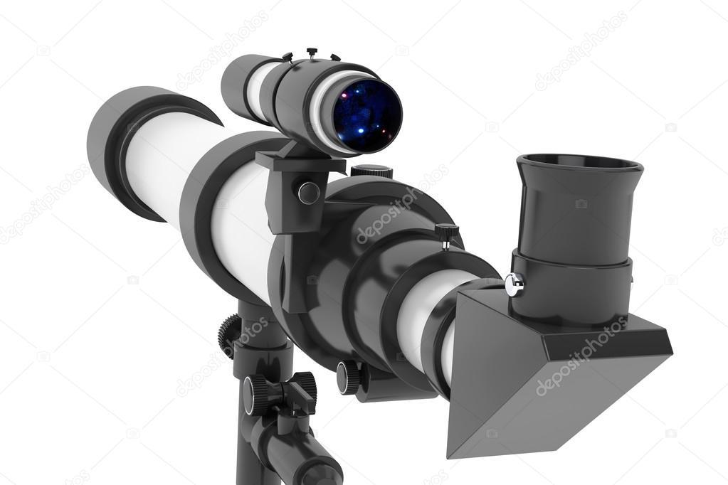 Silber teleskop mit stativ u2014 stockfoto © doomu #71295527
