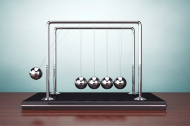 Old Style Photo. Perpetual Motion Spheres of Newton