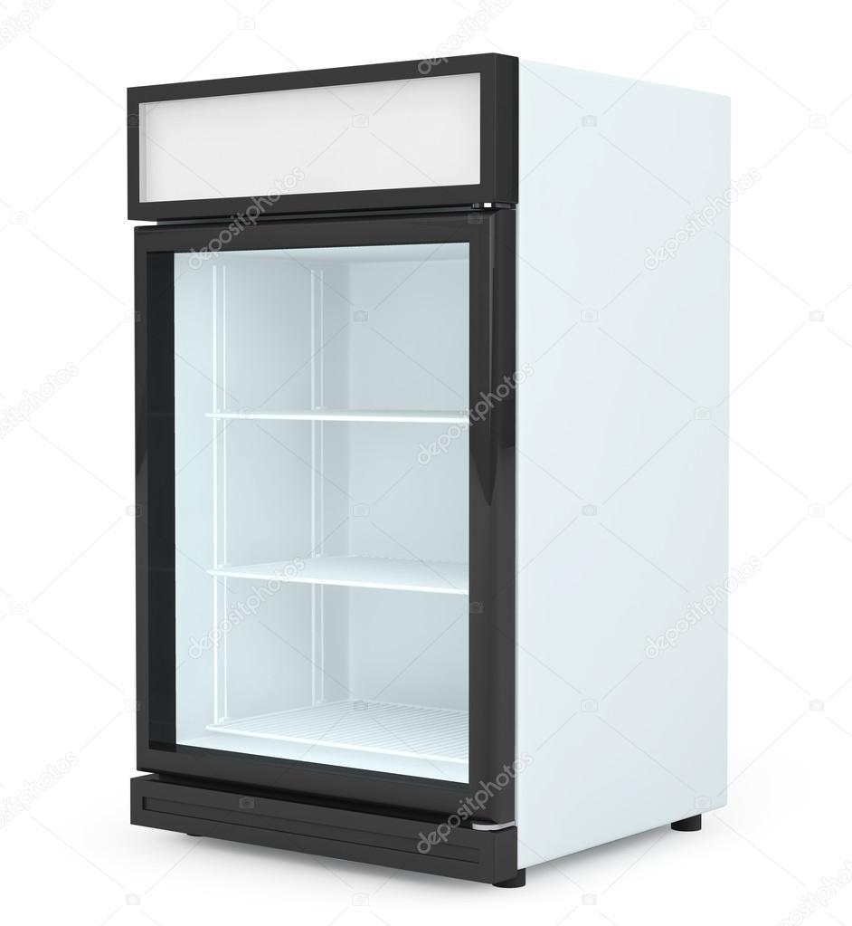 Getränke Kühlschrank mit Glastür — Stockfoto © doomu #76494023