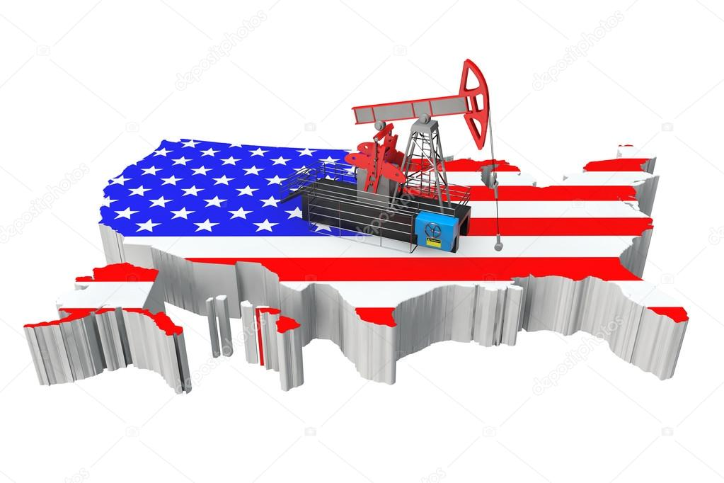 Oil Pump over United States Map