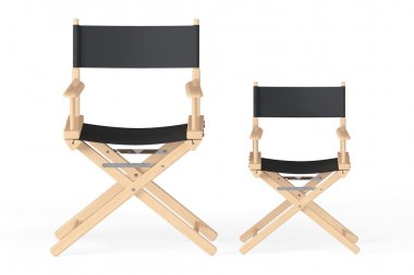 Cinema Industry Concept. Directors Chairs