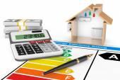 Energieeffizienz-Bewertung mit Haus