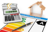 Energie-Effizienz-Rating mit Haus