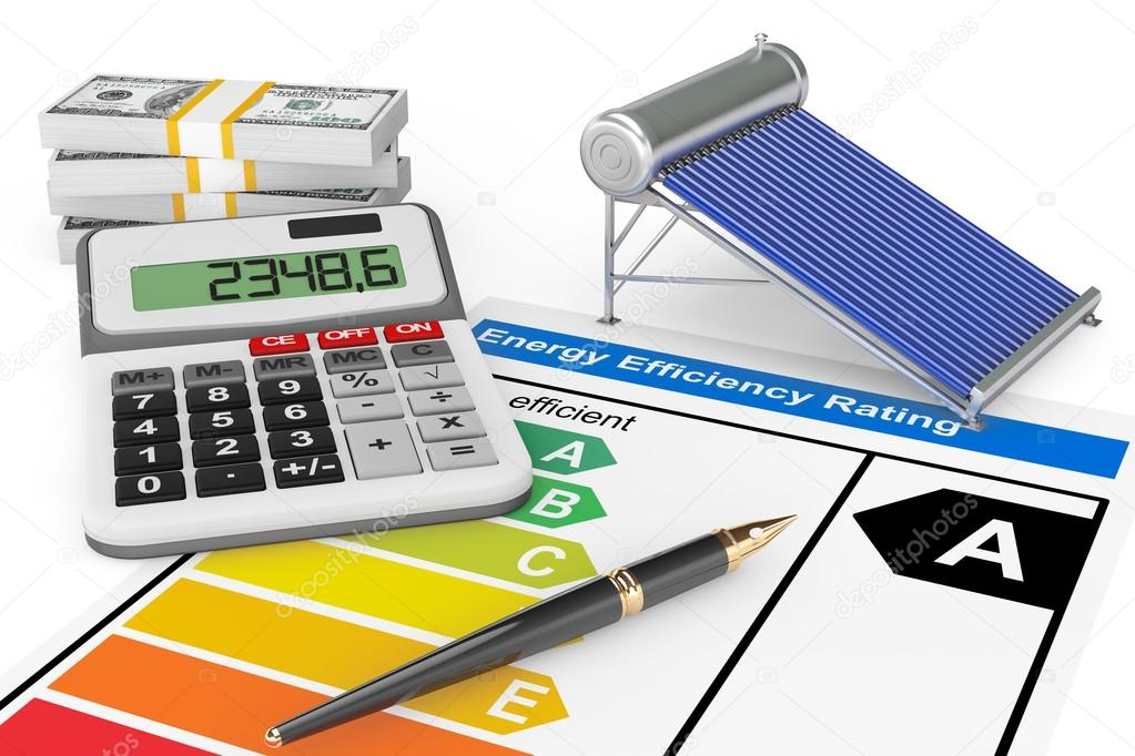 Energy Efficiency Rating with Solar water heater panel