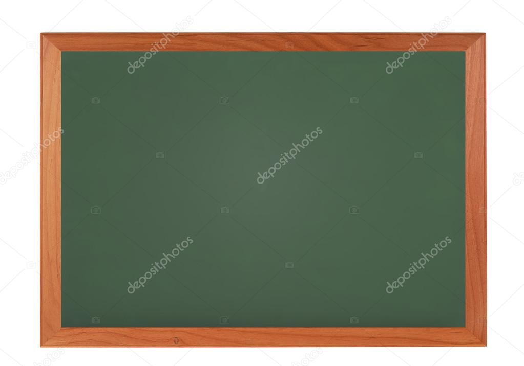 Chalkboard blackboard with wooden frame isolated on white — Stock ...