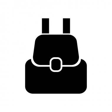 Backpack icon, logo isolated on white background icon