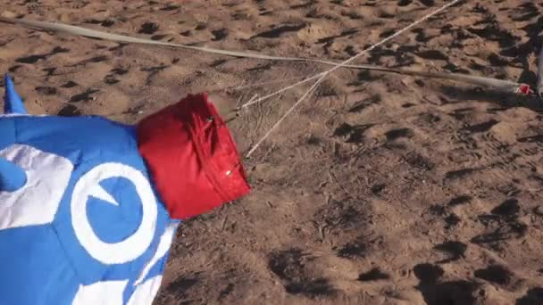 Balloon lying on the sand