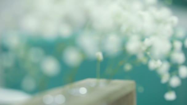 Dekorativní bílé květy