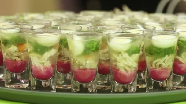 Snacks in glass