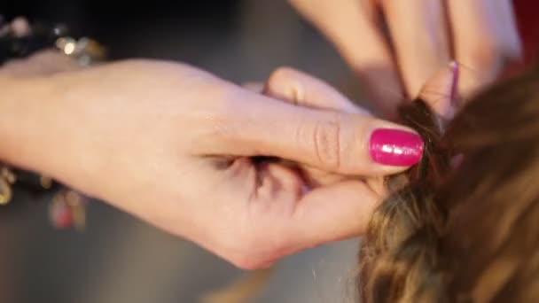 Gathering and braiding hair