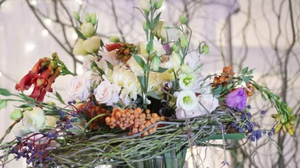 Details decor wedding bouquet